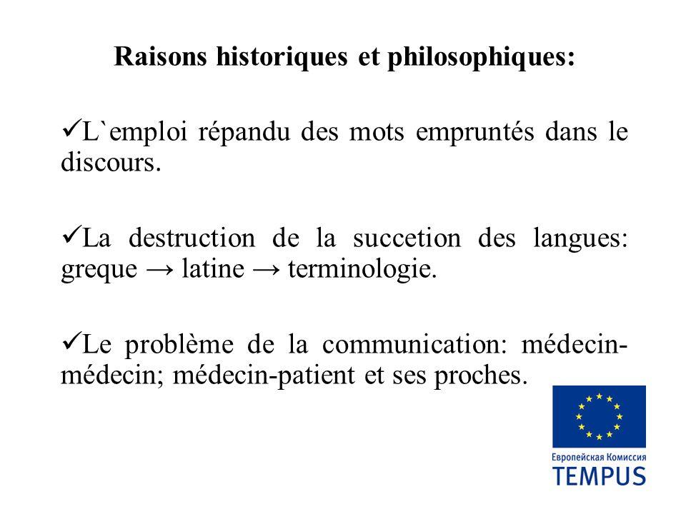 Raisons historiques et philosophiques: