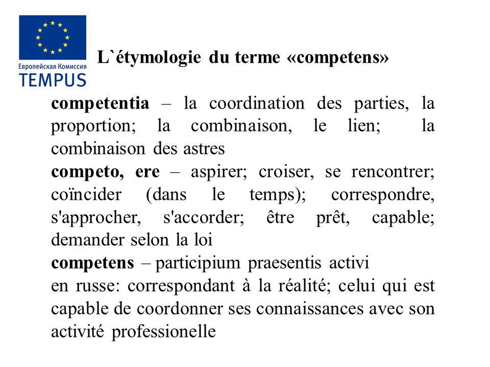 L`étymologie du terme «competens»