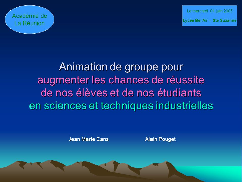 Jean Marie Cans Alain Pouget