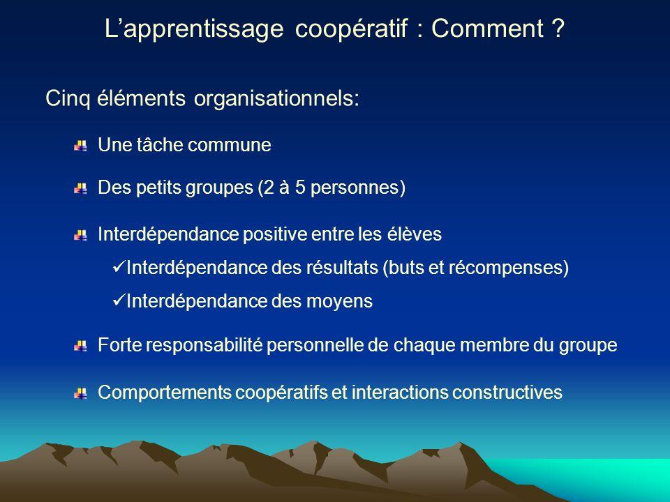 L'apprentissage coopératif : Comment