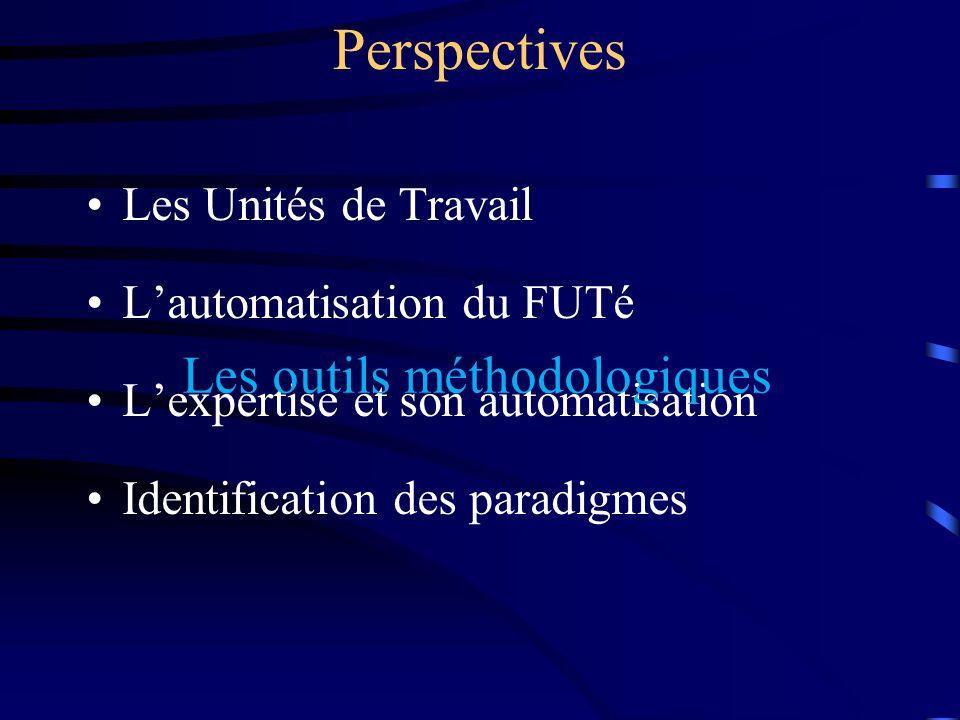 Perspectives Les outils méthodologiques Les Unités de Travail