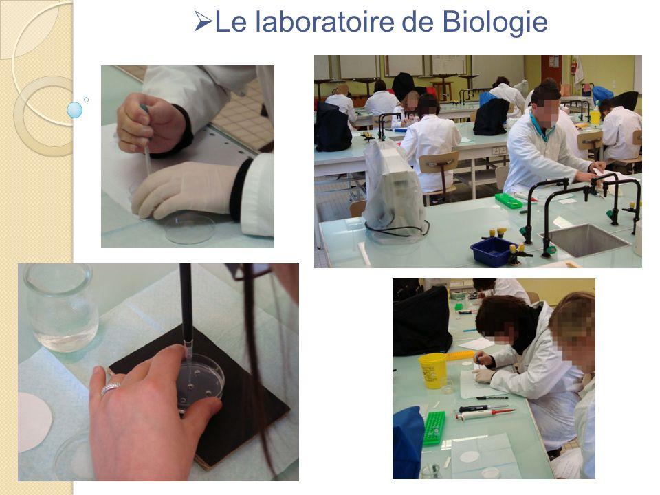 Le laboratoire de Biologie