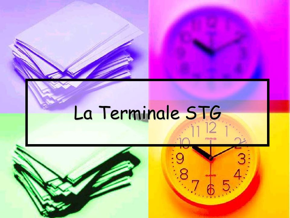 La Terminale STG