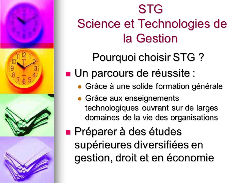 STG Science et Technologies de la Gestion