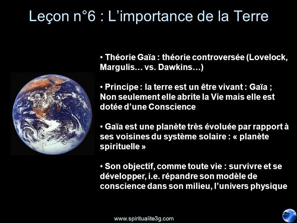 Leçon n°6 : L'importance de la Terre