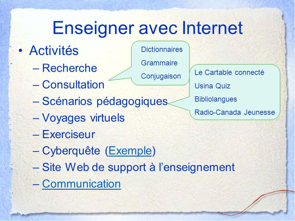 Enseigner avec Internet