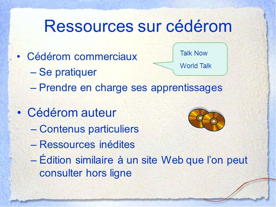 Ressources sur cédérom