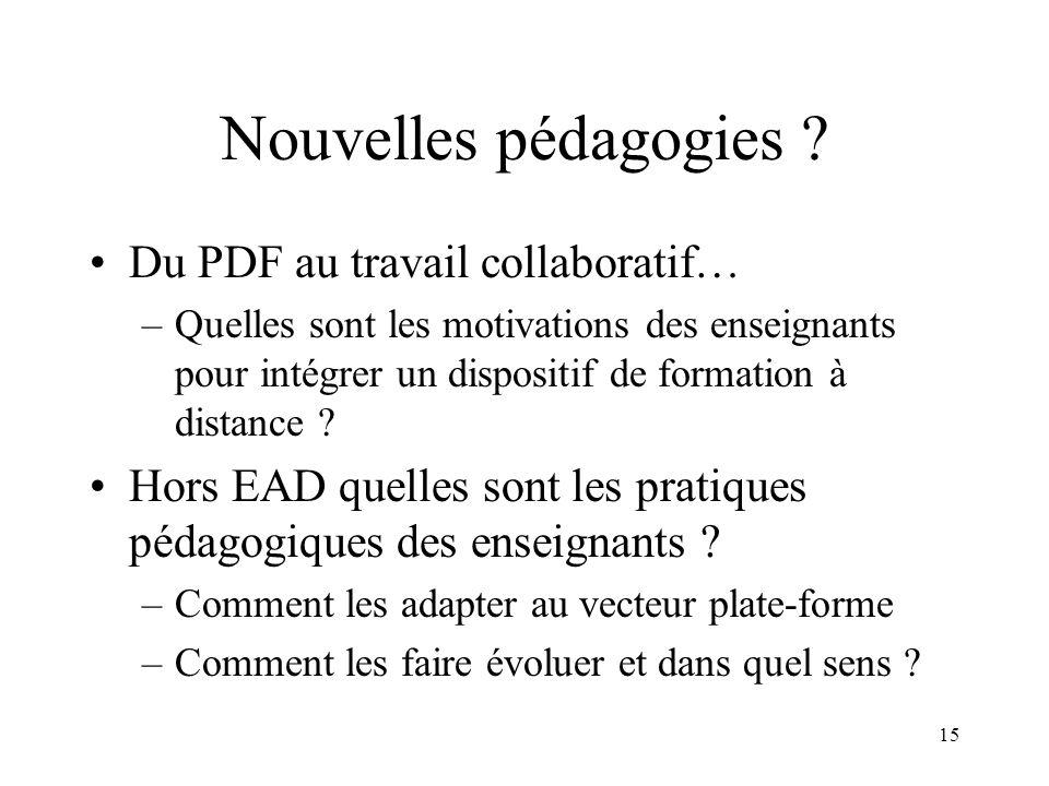 Nouvelles pédagogies Du PDF au travail collaboratif…