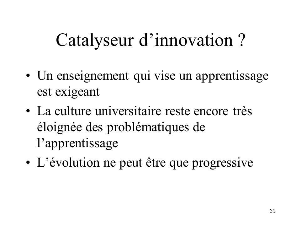 Catalyseur d'innovation