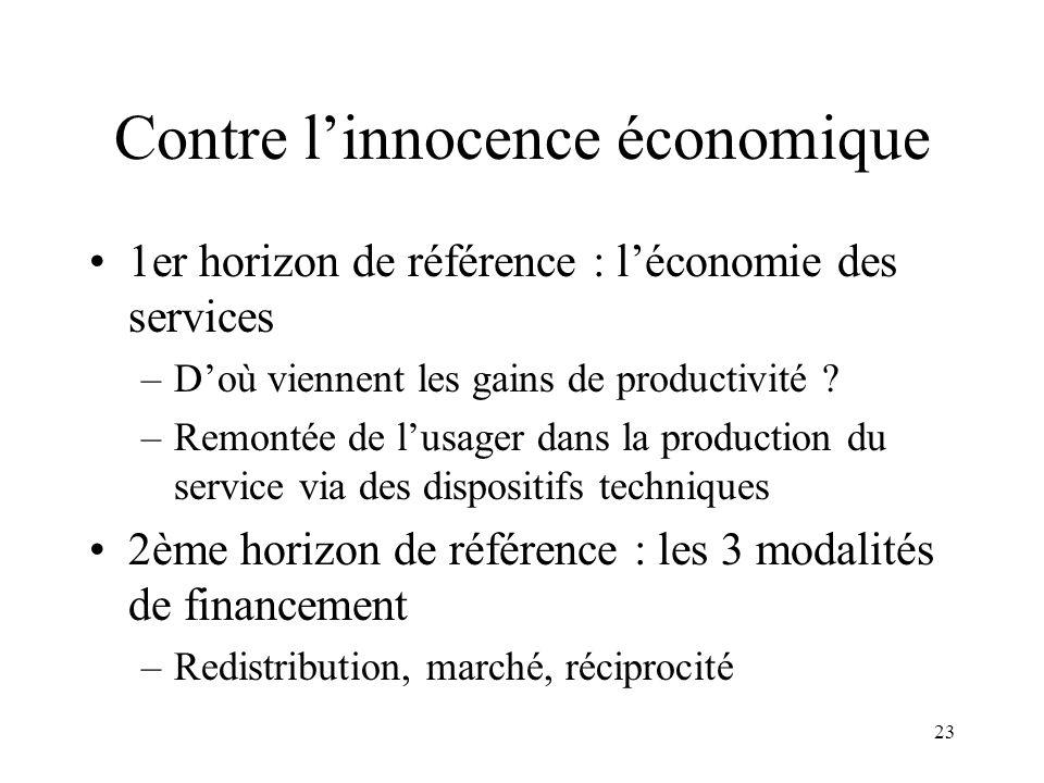 Contre l'innocence économique