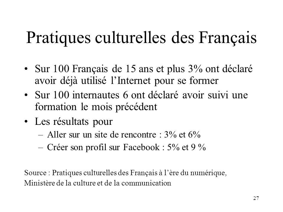 Pratiques culturelles des Français