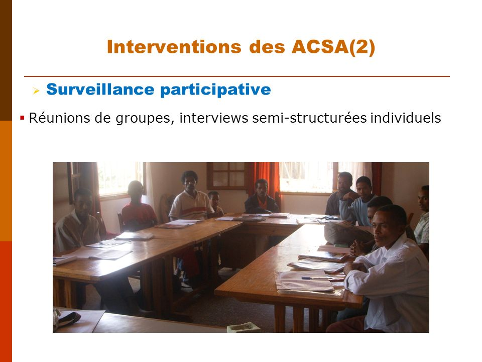 Interventions des ACSA(2)