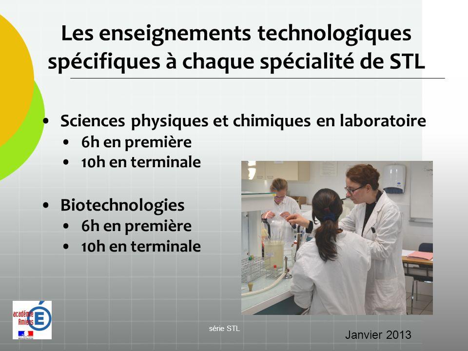 Les enseignements technologiques spécifiques à chaque spécialité de STL