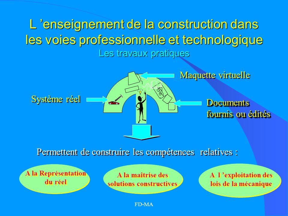 L 'enseignement de la construction dans les voies professionnelle et technologique Les travaux pratiques