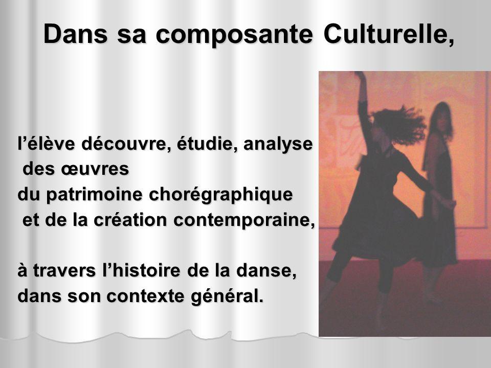 Dans sa composante Culturelle,