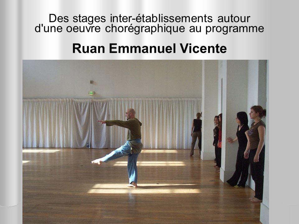 Ruan Emmanuel Vicente Des stages inter-établissements autour