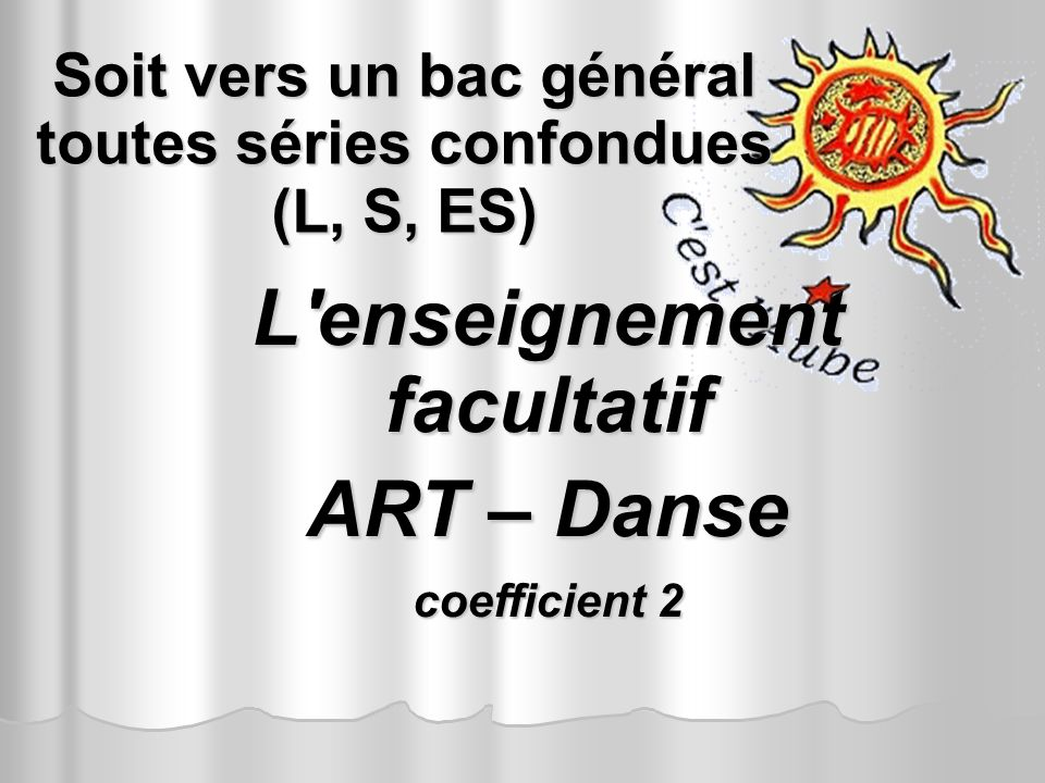 L enseignement facultatif ART – Danse