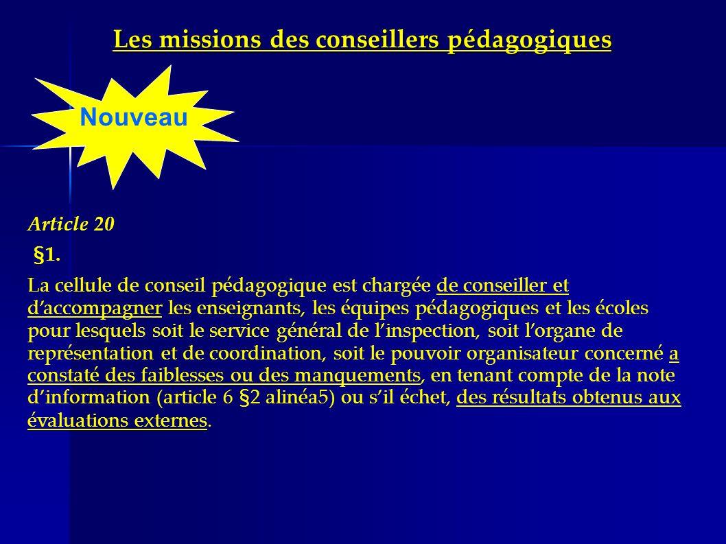 Les missions des conseillers pédagogiques