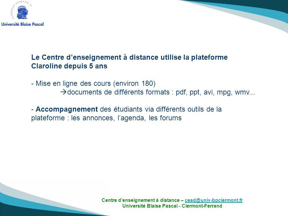 Mise en ligne des cours (environ 180)