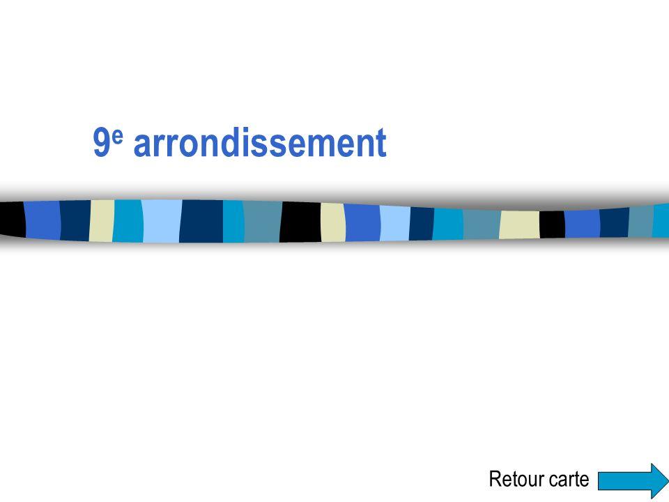 9e arrondissement Retour carte