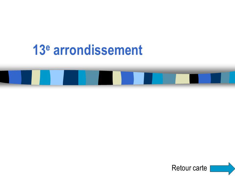 13e arrondissement Retour carte