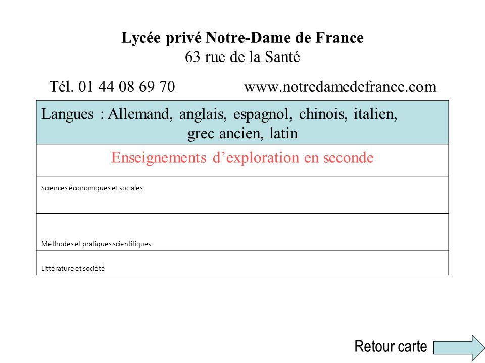 Enseignements d'exploration en seconde