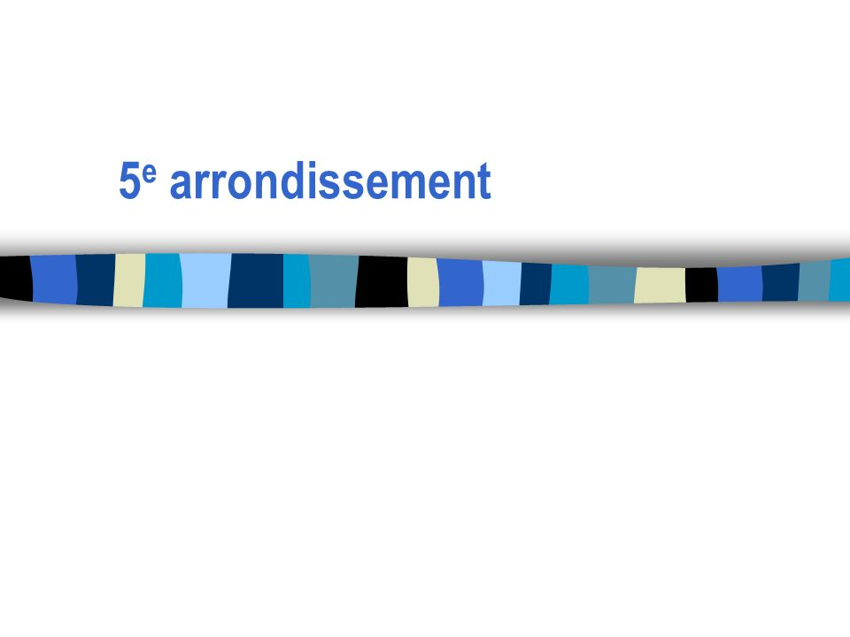 5e arrondissement