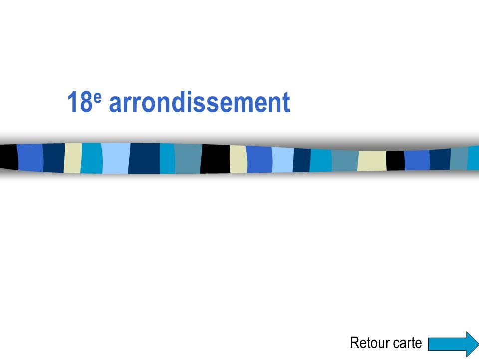 18e arrondissement Retour carte