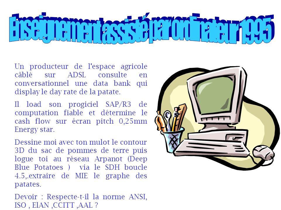 Enseignement assisté par ordinateur 1995
