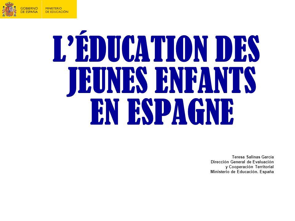 L'ÉDUCATION DES JEUNES ENFANTS EN ESPAGNE