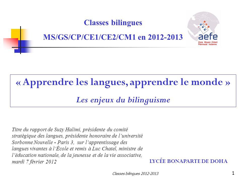 « Apprendre les langues, apprendre le monde »