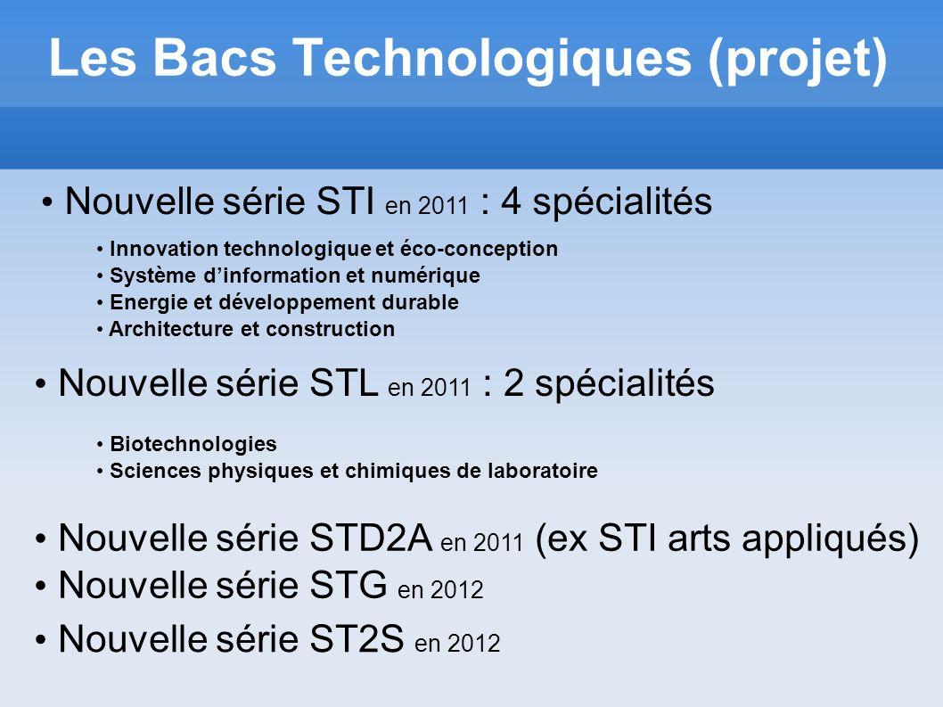 Les Bacs Technologiques (projet)
