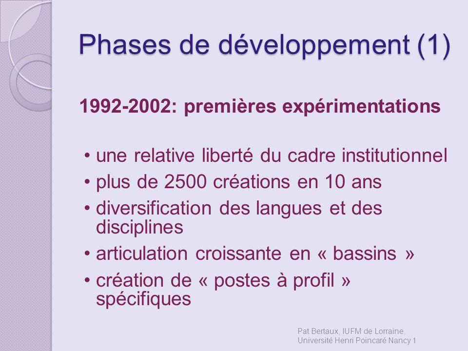 Phases de développement (1)