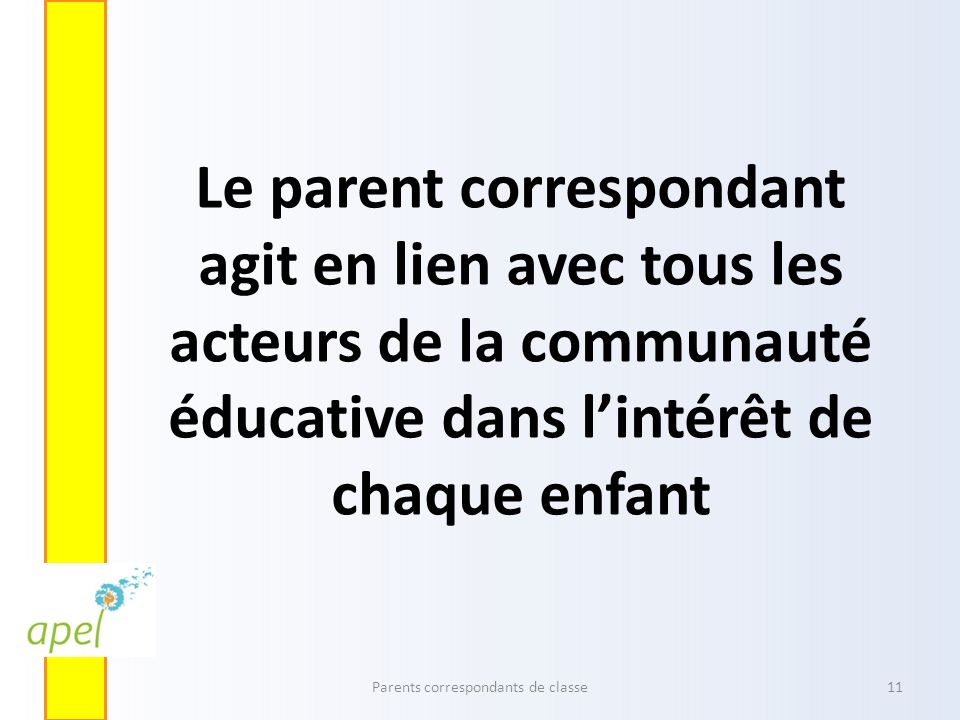 Parents correspondants de classe