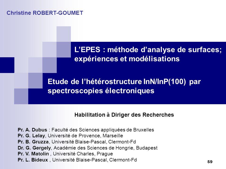 L'EPES : méthode d'analyse de surfaces; expériences et modélisations