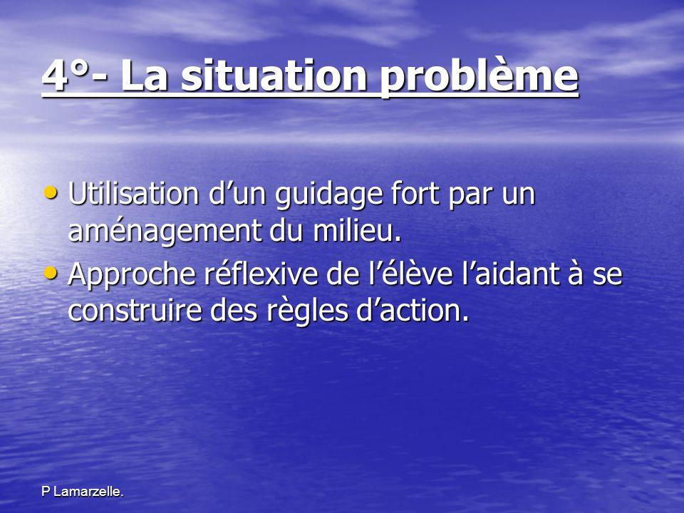 4°- La situation problème