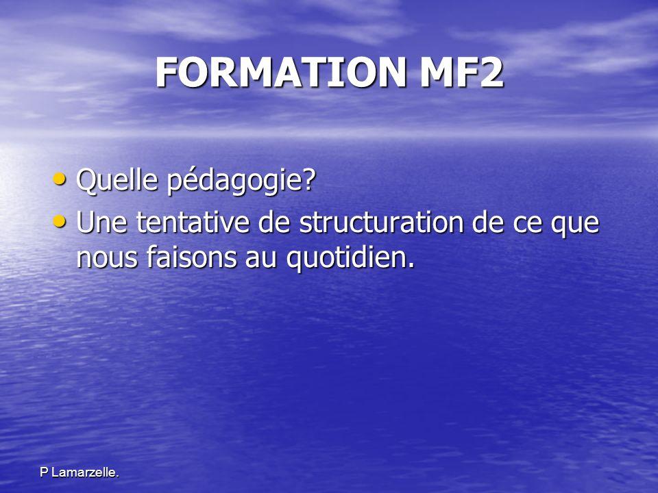 FORMATION MF2 Quelle pédagogie
