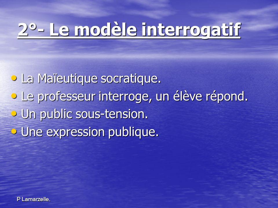 2°- Le modèle interrogatif