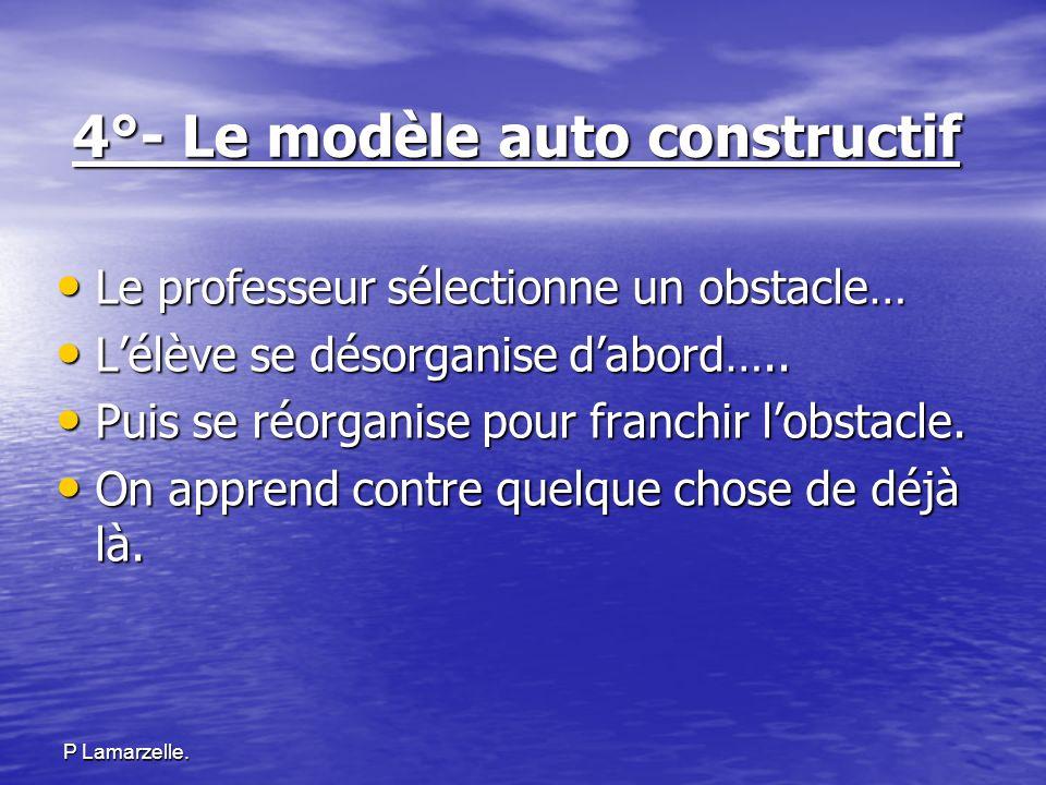 4°- Le modèle auto constructif