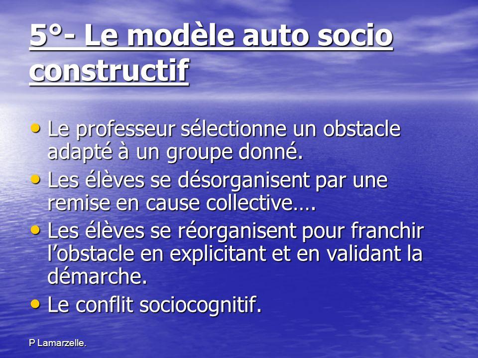 5°- Le modèle auto socio constructif