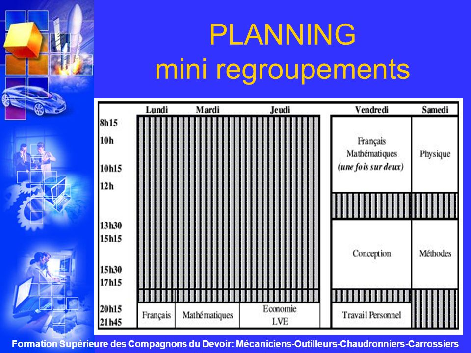 PLANNING mini regroupements