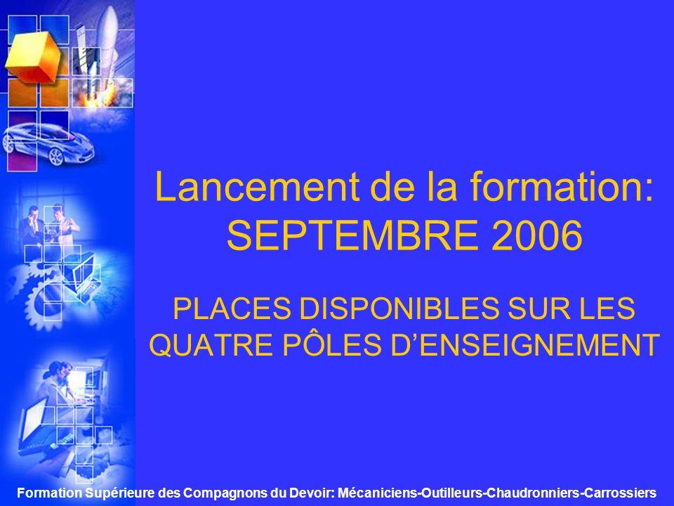Lancement de la formation: SEPTEMBRE 2006