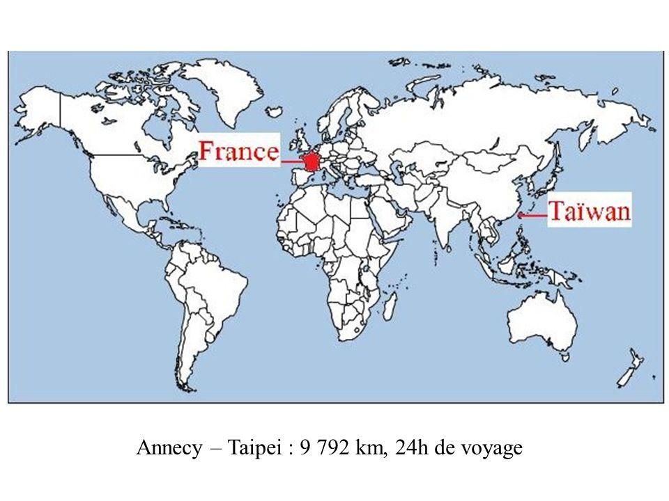 Annecy – Taipei : 9 792 km, 24h de voyage
