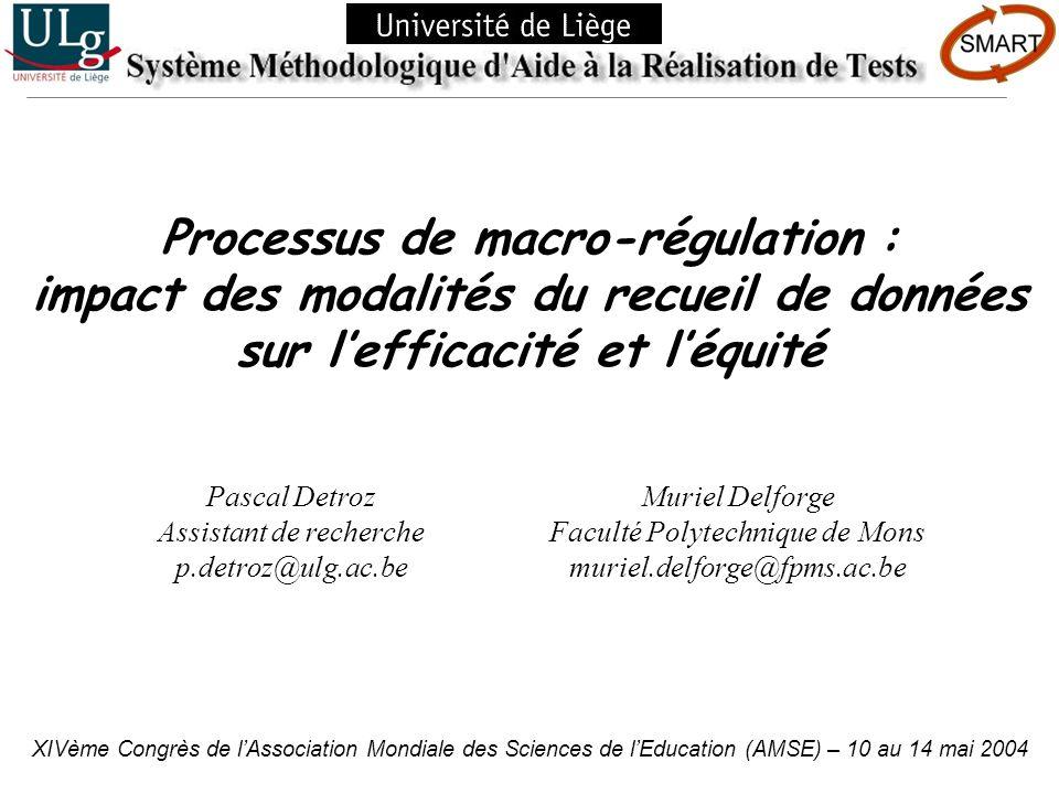 Processus de macro-régulation :