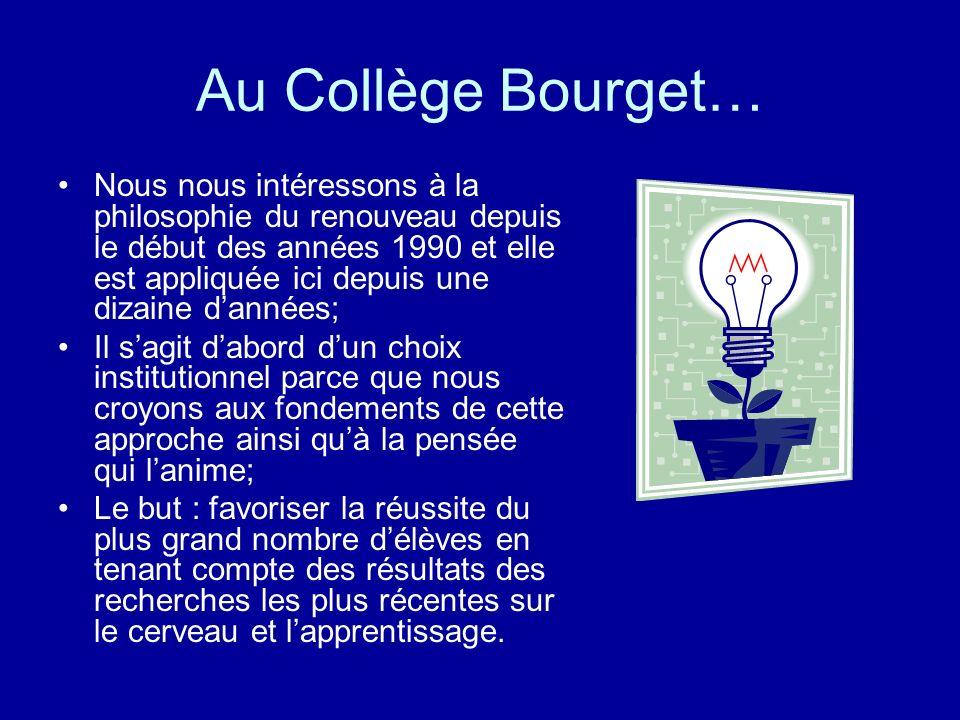 Au Collège Bourget…