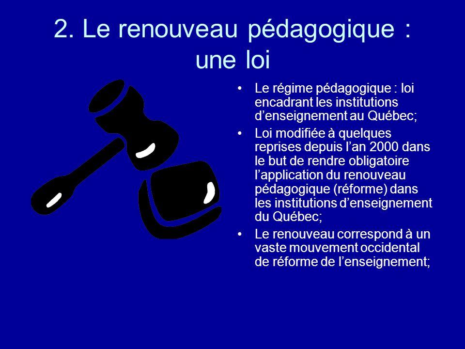 2. Le renouveau pédagogique : une loi