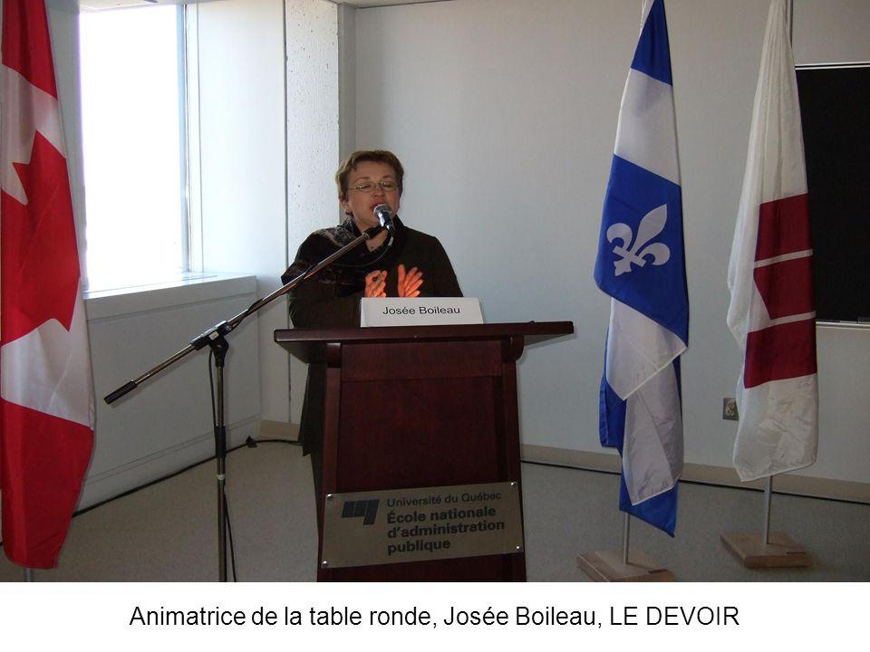 Animatrice de la table ronde, Josée Boileau, LE DEVOIR