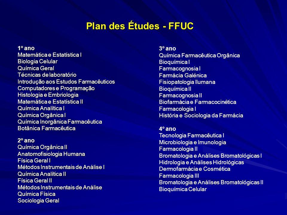 Plan des Études - FFUC 1º ano 3º ano Matemática e Estatística I