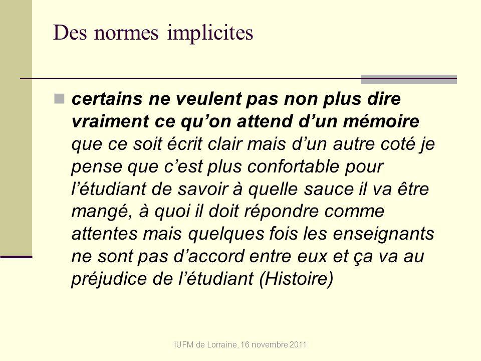 IUFM de Lorraine, 16 novembre 2011