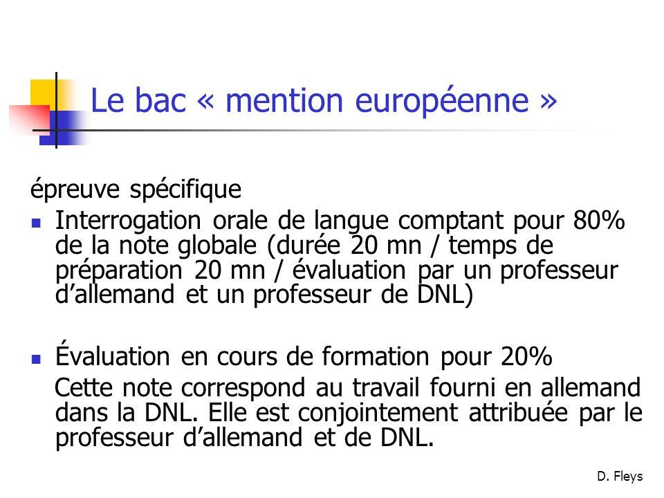 Le bac « mention européenne »